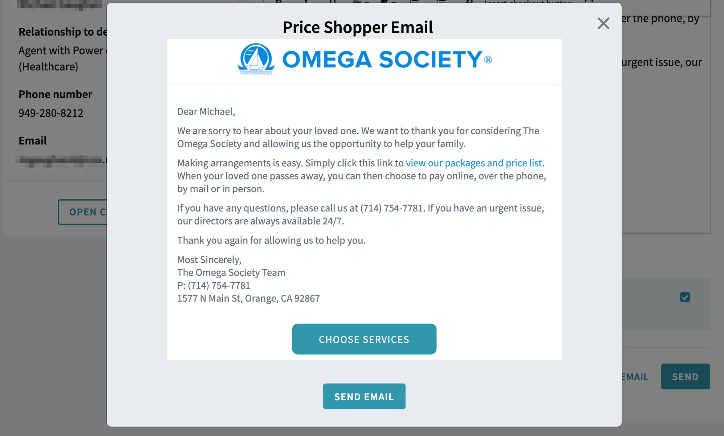 Price Shopper Email Preview
